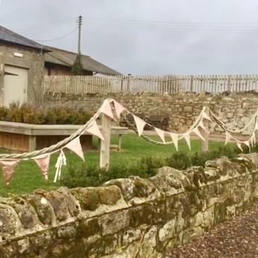 Doxford Barns Northumberland wedding bunting hire