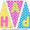 Thumbnail: HAPPY EASTER printable bunting
