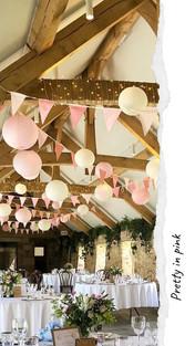 Rose Pink with lanterns