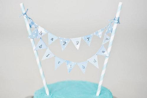 HAPPY BIRTHDAY Cake Bunting Topper