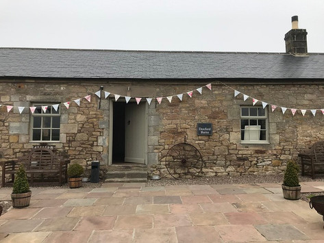 Vintage style cotton bunting at Doxford Barns