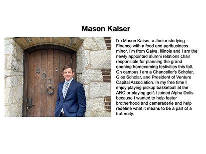 Mason Kaiser Alpha Delta Phi