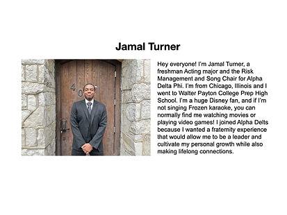 Jamal Turner Alpha Delta Phi
