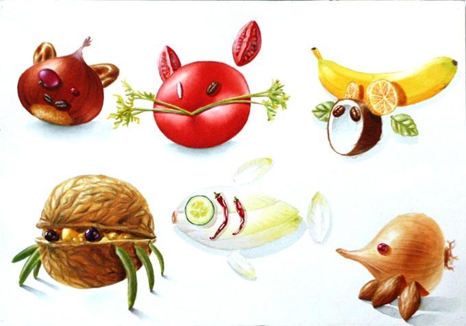 Animaux-Fruits
