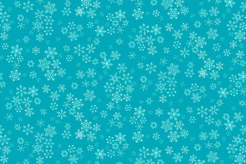 Christmas 2016 Frosty - Snowflakes in Turquoise