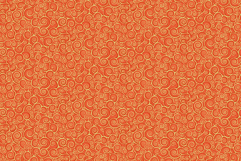 Rhapsody Gold Scroll - Orange