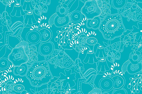 Alison Glass Sun Prints - Grow in Turquoise