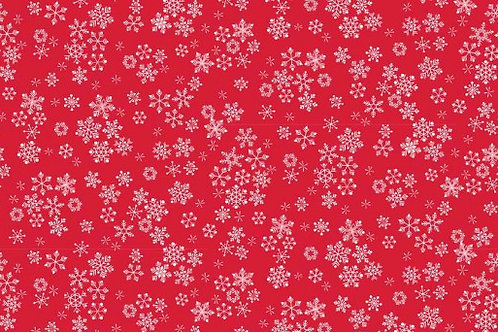 Christmas 2016 Frosty - Snowflakes in Red