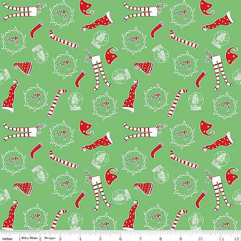 Pixie Noel - Socks in Green