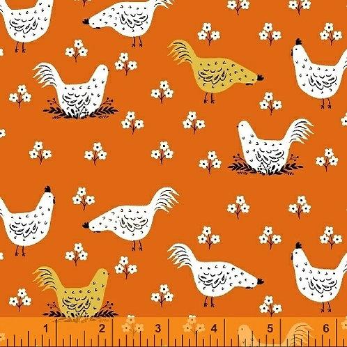 Gardening - Chickens in Orange