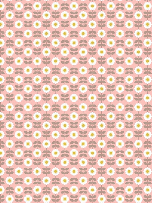 Love Me, Love Me Not - Retro Daisy on Pink
