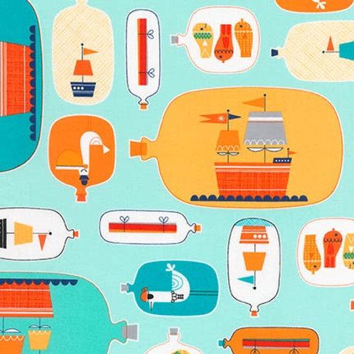 Message in a Bottle - Bottle Ships in Ocean
