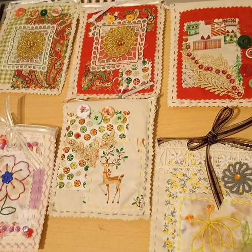 Fabric gift tag workshop with Sandra and Katherine - Wed 18th November