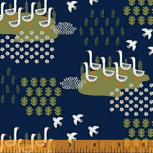 Gardening - Swans in Dark Blue
