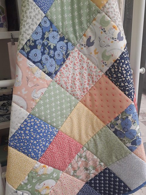 Beginners' patchwork quilt in a day 23rd October 2021