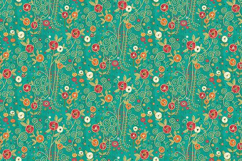 Rhapsody Flower - Turquoise