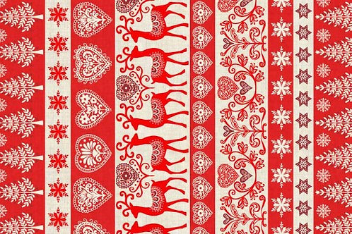 Christmas 2016 Scandi 3 - Border in Red