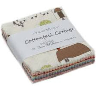 'Cottontail Cottage' by Bunny Hill Designs - Mini Charm Pack
