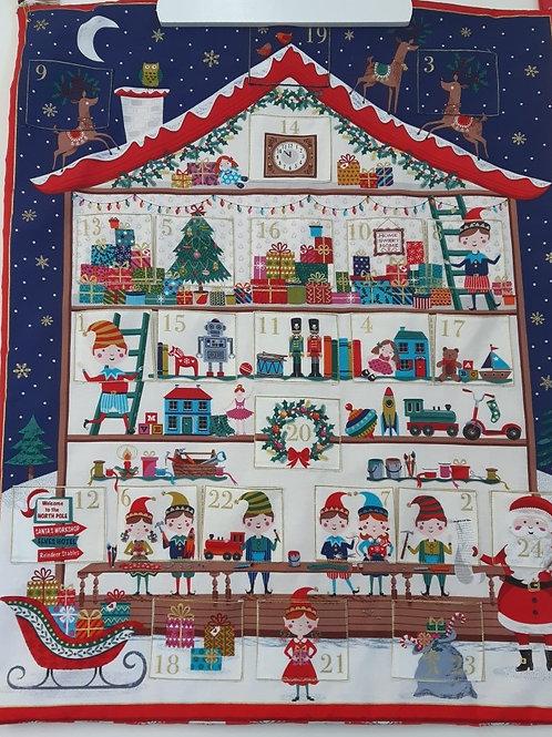 Santa's Workshop Advent Calendar Panel