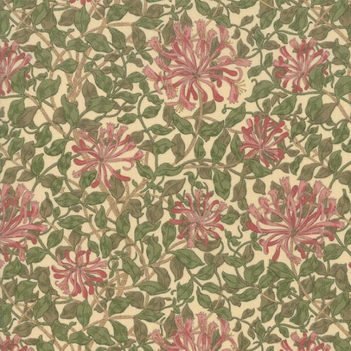 May Morris Studio by V&A Archives - Honeysuckle 1883 Cream