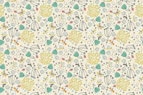 A Walk in the Park - Flowers in Cream