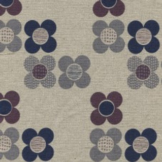 Dashwood Cotton/Linen Print - Chalk Hill Flowers