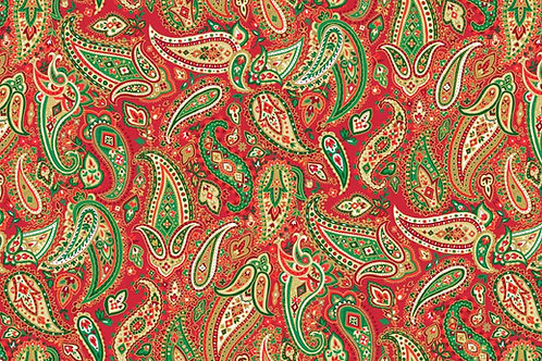 Traditional Christmas - Paisley in Red