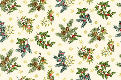 Deck the Halls - Foliage Scatter in Cream