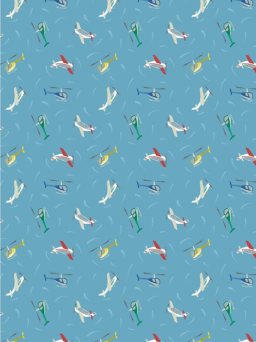 Small Things on the Move - Planes on Blue