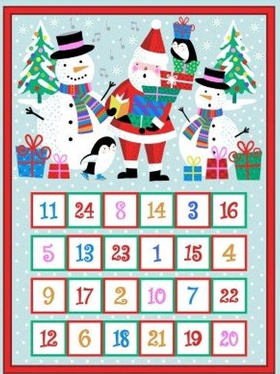 Jolly Santa - Advent Calendar Panel