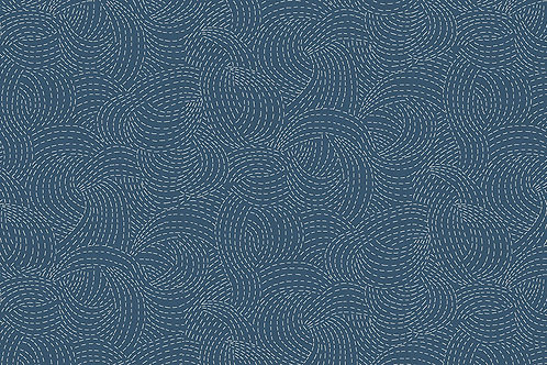 Indigo - Sashiko in Mid Blue