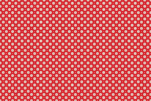 Christmas 2017 Scandi 4 - Nordic Snowflake Cream on Red