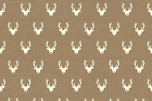 Christmas 2016 Scandi 3 - Stags in Hessian