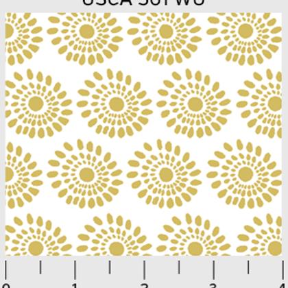 Urban Scandinavian - Sunflowers in White/Gold
