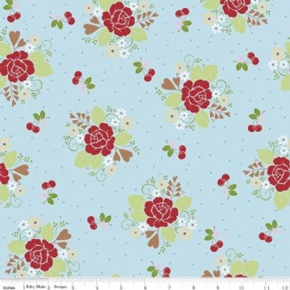 Sew Cherry 2 - Main in Aqua