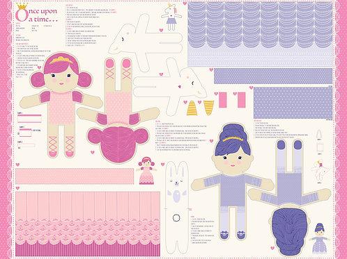 Once Upon a Time - Princess and Unicorn Doll Panel