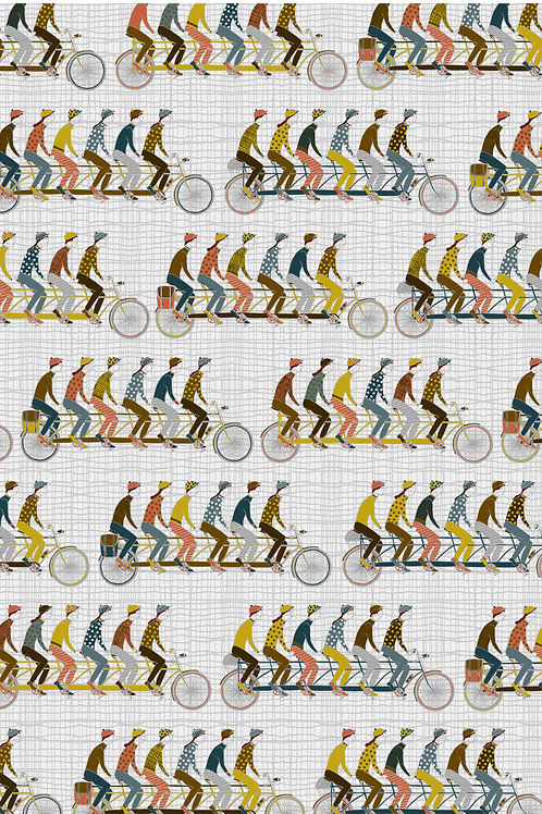Jane Makower for Inprint - Cyclists in Silver