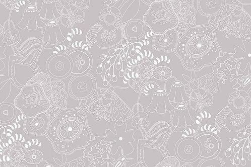 Alison Glass Sun Prints - Grow in Silver