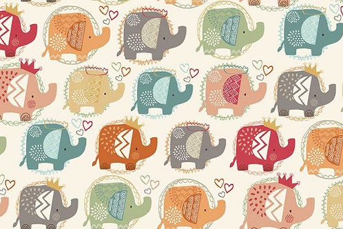 Ellie - Elephants in Turquoise