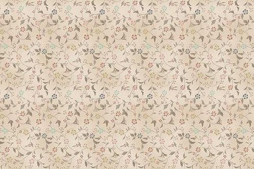 Dream - Floral Scroll in Cream