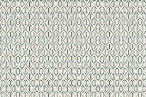Grey's Court Collection - Hexagon in Cream