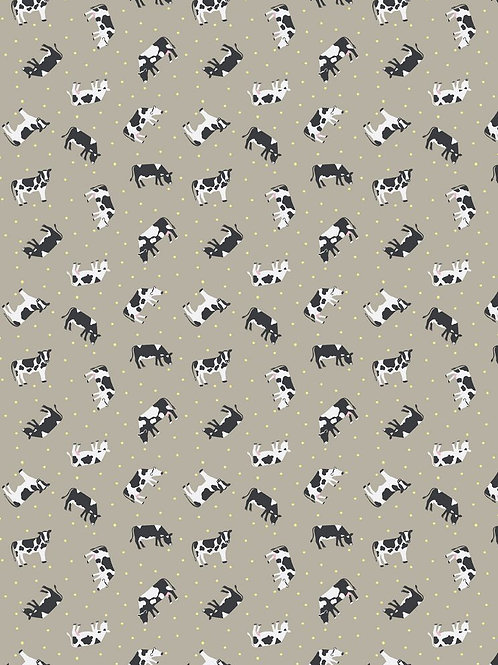 Small Things on the Farm - Cows on Taupe