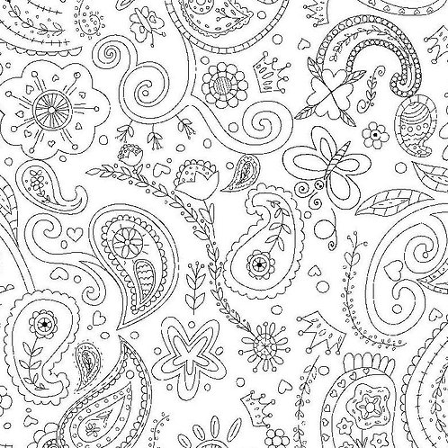 Color Me - Princess Paisley in White