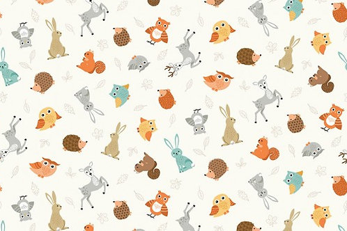 Forest - Animal Scatter in Cream