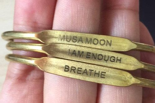 Brass Engraved Bangle