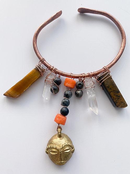 Kandake Copper Bangle