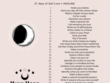 31 days of Self Care + Healing