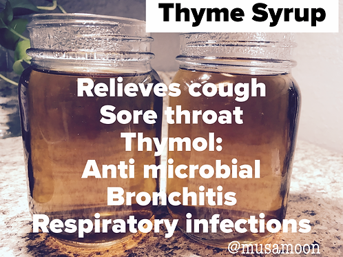 Thyme Syrup 16oz