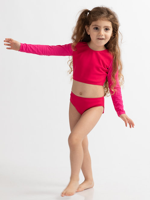 LIRON Pink long sleeves bikini