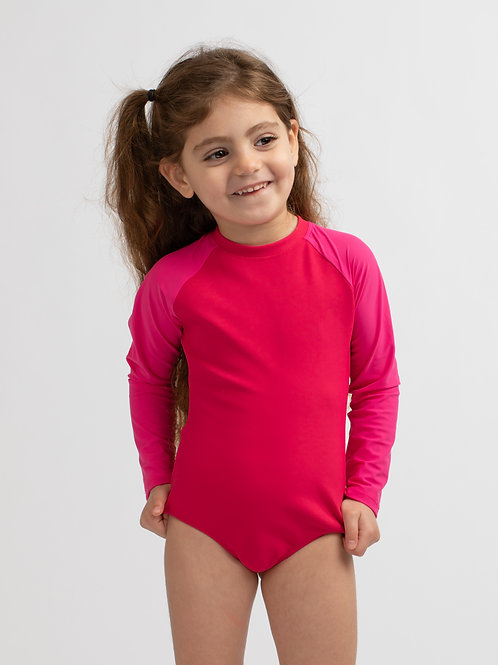 Mini LIRON Pink long sleeves one piece